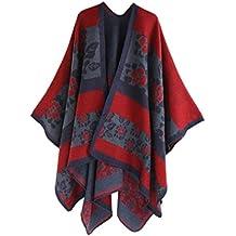 Cape Shawl Kimono Femme Floral, Kolylong Élégant Chandail Cardigan longues  en La laine Châle Écharpe ae3d59bcfa7