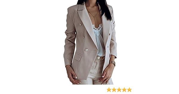 Onsoyours Donna Maniche Lunghe Giacche Aperto Davanti Colletto Cappotto Elegante Ufficio Business Blazer Top Gilet OL Giacca Cardigan