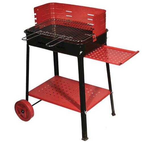 Barbecue-a-legna-o-carbone-in-acciaio-con-ruote-50x35-cm