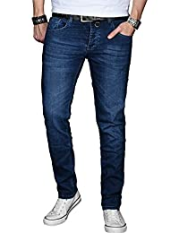 A. Salvarini Designer Herren Jeans Hose Basic Stretch Jeanshose Regular Slim