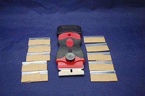 Einseitige Rasierklinge Halter und 10x Einseitige Rasierklingen, Kleber Entferner Werkzeug, Schaber
