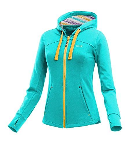 ABK Foka Sweat Sweatshirt mit Reißverschluss und Kapuze, Damen S Türkis (Angle Blue) Preisvergleich