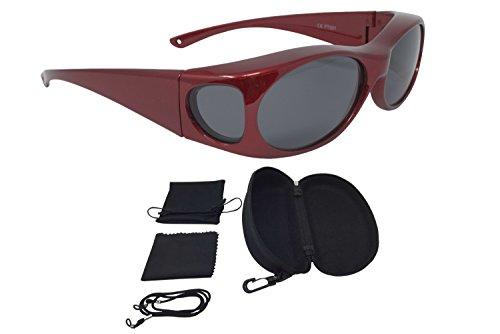 Sonnenüberbrille Überzieh Sonnenbrille FASHION EDITION polarisiert UV 400 (Rot)