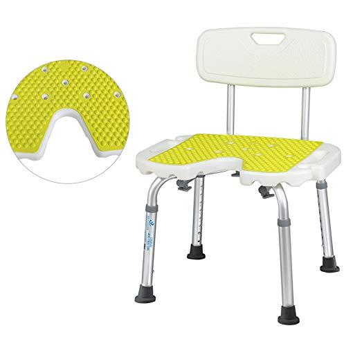 Badstuhl ohne Werkzeug zu installieren rutschfeste Antihaft-Duschstuhl ältere Menschen behinderte Bad Duschstuhl Schwangere Frauen Bad Stuhl (Armlehnen Ohne Duschstuhl)