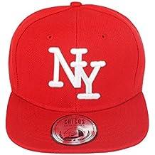 JOHNNY CHICOS - Gorra de béisbol - para Hombre Rojo NY Rot Weiß Weiß ...