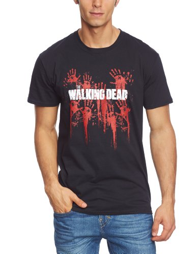 Collectors Mine Herren T-Shirt Walking Dead,The-Serie - Bloody Hands Logo, Gr. 48 (M), Schwarz (Schwarz) -
