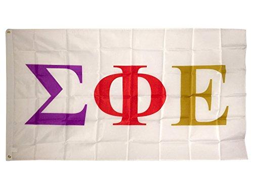 Delta-weiß-bett (Sigma Phi Epsilon sigep weiß Buchstabe Flagge Brüderlichkeit)