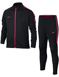 Nike DRY Acdmy TRK Suit K Conjunto Chandal, Unisex Niños, Negro/Rojo Sirena, L