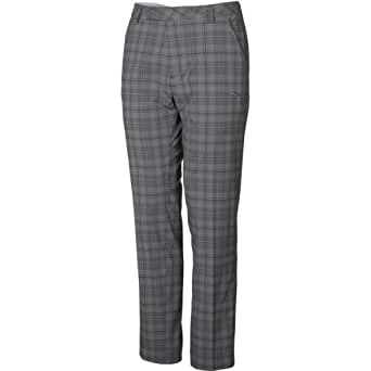 Pantalon carreaux gris noir homme golf for Pantalon homme a carreaux