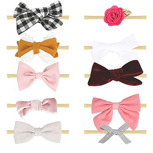 COUXILY Baby Kinder Haarband Mädchen Stirnband Kopfband Blumen Blüte Haarschmuck Headband Hairband (11)
