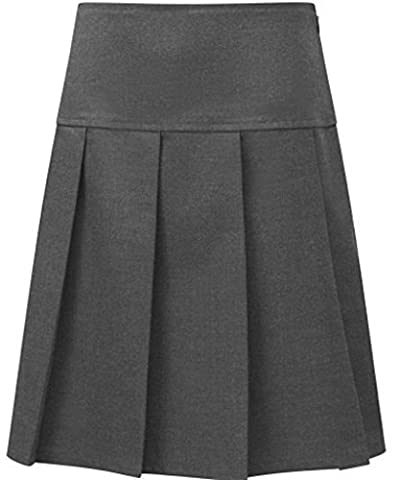 School Uniform Senior Girls Pleated Skirt Grey 32