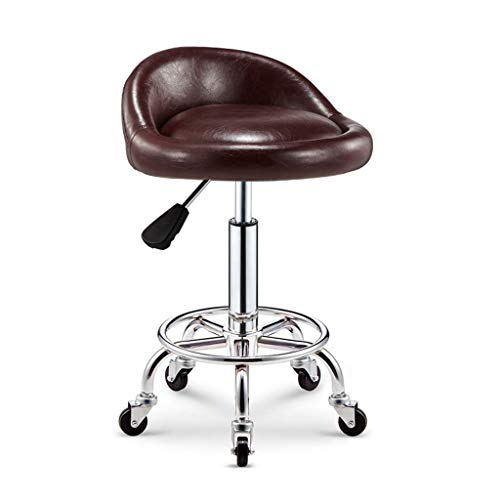 b Chairspu Office Medical Rolling Swivel For Salon Stool Cushionbrown With Adjustable Leather Spa Massage Backrest stool 54qcj3ARL