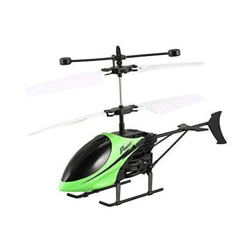 Ballylelly D715 Fliegen Mini RC Drone Infrarot Induktion RC Hubschrauber Drohne Fernbedienung Flugzeug mit LED Blinklicht für Kinder Spielzeug Geschenk Grün