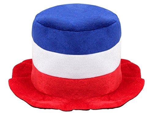 Cappello peluche per tifosi Francia (00/0744) colori bandiera francese blu bianco rosso les bleus equipe tricolore ultra calcio festa estate coppa mondiale europei France accessorio - Colori Bandiera Irlandese