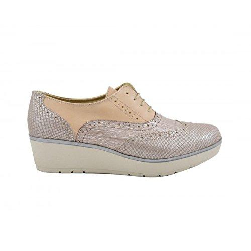 Benavente , Chaussures de ville à lacets pour femme Beige