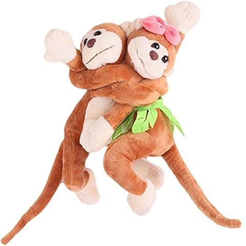 meizu88Cute flauschig Monkey Vorhang Raffhalter Raffhaltern Draperie Haken Kinder Room Decor, Orange, Einheitsgröße