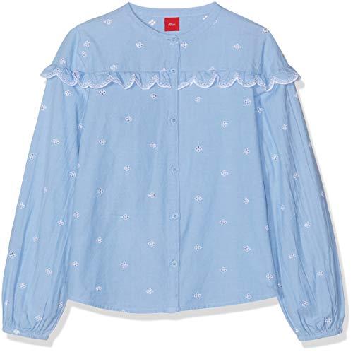 s.Oliver Mädchen 53.903.11.3121 Bluse, Blau (Blue Check 53n0), 92 (Herstellergröße: 92/98/REG)