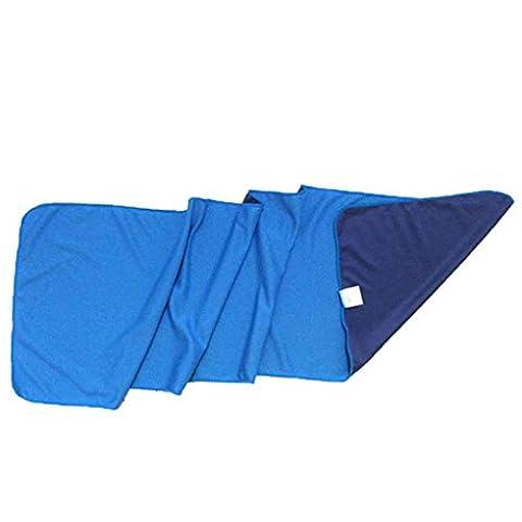 Arichtop Serviette de refroidissement par évaporation Chilly Pad pour la course à pied Vélo randonnée Gym Yoga de golf, bleu ciel