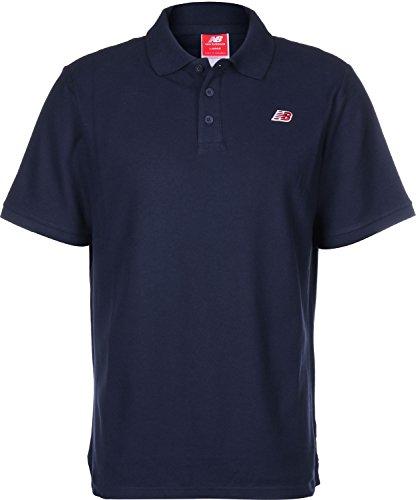 New Balance Cotton Pique Poloshirt Herren blau