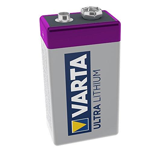 Varta Lithium Batterie 9V Block Batterien 6LR61-1er Pack (Design kann abweichen)
