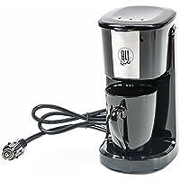 All Ride Kaffeemaschine für 1 Tasse, Keramik-Becher, Dauerfilter, Keramikpecher, 12V/125W