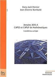Annales 2013-A, CAPES et CAPLP de Mathématiques