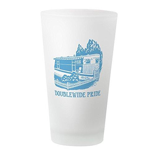 CafePress–Doublewide Pride–Pint-Glas, 16oz Trinkglas frosted (Redneck-humor Lustiges)