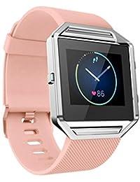 Malloom blando Silicona Correa de reloj Correa para la muñeca para Fitbit Blaze Smart Watch (rosa)