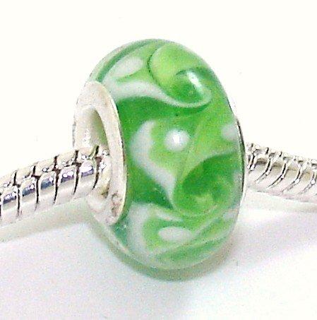 green-white-whirlpool-swirls-glass-charm-bead-fits-pandora-chamilia-etc-style-bracelets-spanglebead