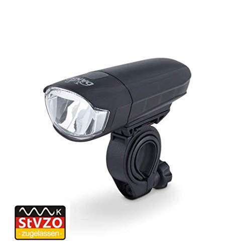 Dansi LED Batterie-Frontleuchte, 30/15 Lux, StVZO zugelassen, schwarz, 44011 -