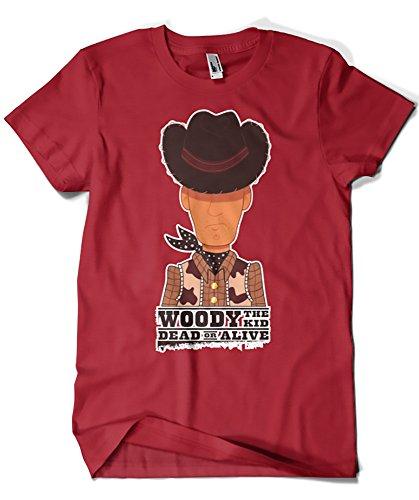 Herren T-Shirt Rot granatrot XX-Large (Jessie Toy Story Shirt)