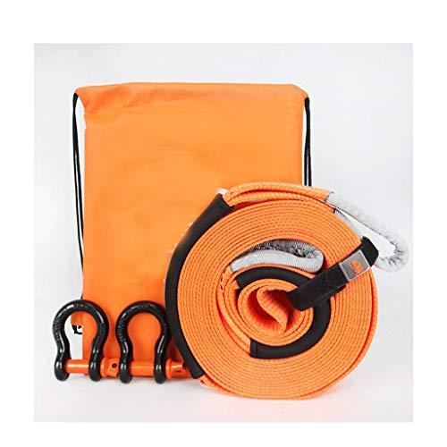 HX Abschleppseil, Extra Langes Zugseil Schwerer, Leistungsstarker Offroad-Anhänger Mit Rettungsseil, Landwirtschafts-LKW, 5 T, 8 T, 12 T (Size : Orange 9m 8t+Steel Hook) -