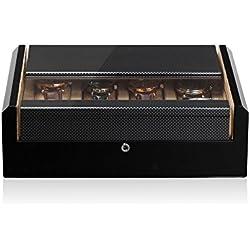 Modalo Unisex Zubehör Aufbewahrung für 8 Uhren in carbon verschiedene Materialien mehrfarbig 700882