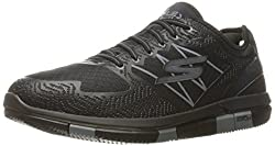 Skechers Mens Go Walk Flex Black and Grey Nordic Walking Shoes - 6 UK/India (39.5 EU)(7 US)