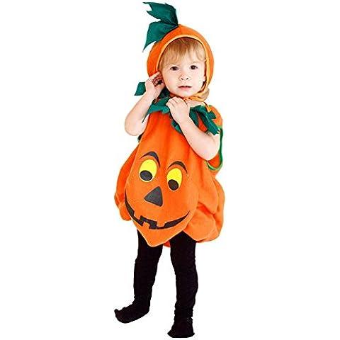 LianLe® Disfraz de Calabaza para bebés Niño Chicos Pelele calabaza Disfraz de Cumpleaños Carnaval Fiesta Cosplay Boda Halloween