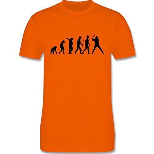 Evolution - Baseball Evolution - Herren Premium T-Shirt Orange