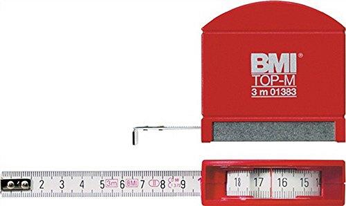 BMI 406241020 Taschenbandmaß Top M mit Innenmessung, Länge 2 m, weisslackiertes Band