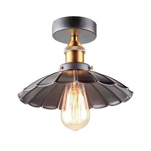 AMZH Retro Lamp Loft Schlafzimmer Balkon Aisle Kleine schwarze Rock Deckenleuchte E27 110V 220V