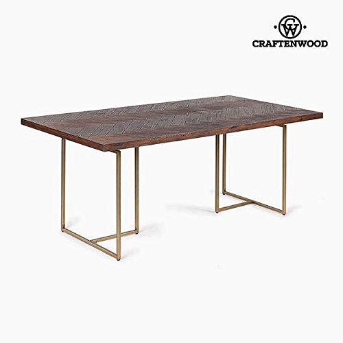 Mesa de Comedor Madera de acacia Mdf (180 x 90 x 75 cm) by Craftenwood -