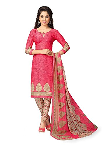 DnVeens Womens Chudidar Unstiched Dress Material (Red)