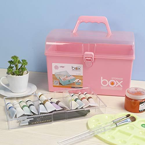 41 6HqIhrxL - Rinboat Caja Botiquín Medicamentos de Plástico para Primeros Auxilios, Color Rosa, 1 Unidad