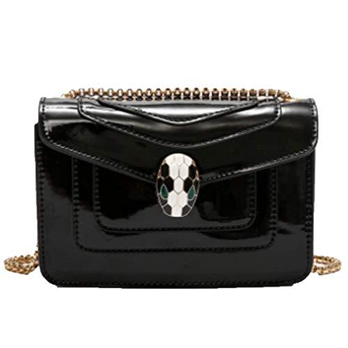 Damen Sommersaison Quaste Weibliche Tasche Paket Kette Umhängetasche Mini-Tasche Handtasche,Plainblack-22 * 15 * 5cm -