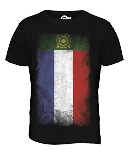 CandyMix Chakassien Verblichen Flagge Herren T Shirt Schwarz