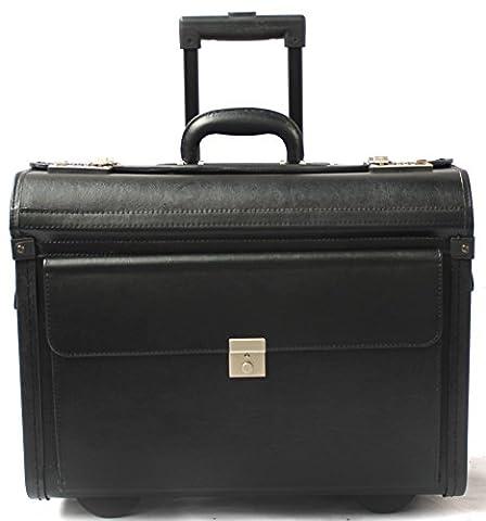 Porte-documents à roulettes - spécial ordinateur portable/style business/taille cabine - vinyle