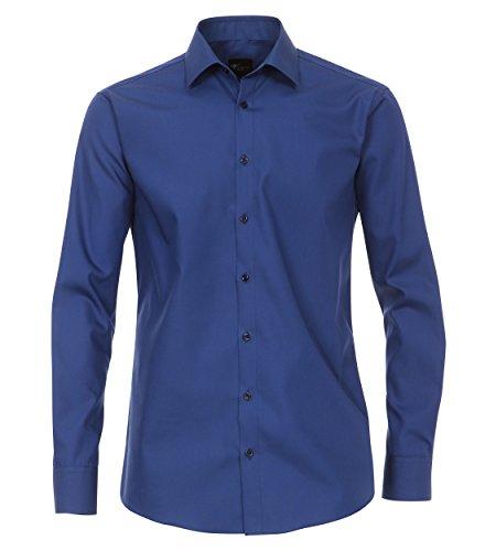 Venti - Slim Fit - Bügelfreies Herren Langarm Hemd in verschiedenen Farben (001480) Blau (111)