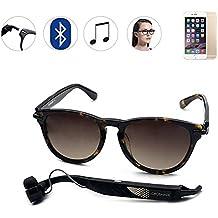 fapir Smart gafas de sol inalámbrico Bluetooth 4.0estéreo Auriculares con micrófono, manos libres teléfono respuesta/llamada Función de música con Smartphone iphone5s, 6plus