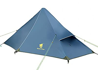GEERTOP Trekkingzelt Pyramiden Rucksack Zelt Minipack 20D Ultralight - 210 x 90 x 105 cm -1 Personen 3 Saison für Camping Wandern Klettern (nicht im Lieferumfang enthalten)