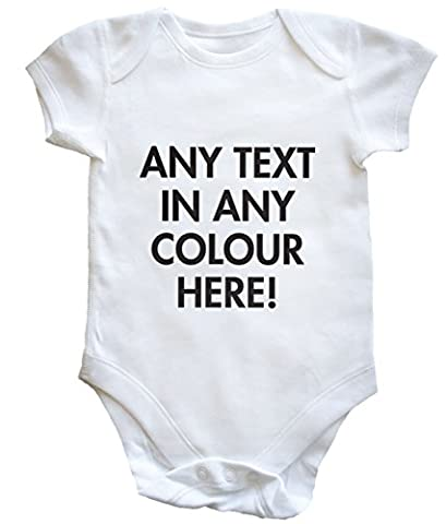 HippoWarehouse personalised any colour text baby vest boys girls