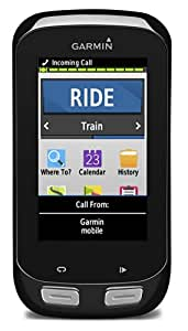 Garmin Edge 1000 Touchscreen GPS Bike Computer with Premium Heart Rate Monitor, Speed and Cadence Sensors - Black
