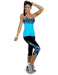 Pantalones Yoga Mujeres,Xinantime La Cara Impresa Stretch Leggings Recortada (L)